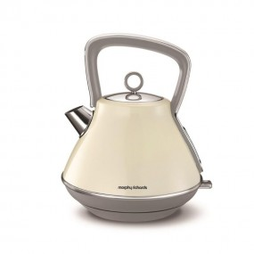 Morphy Richards Evoke Pyramid Kettle - Cream Kettles
