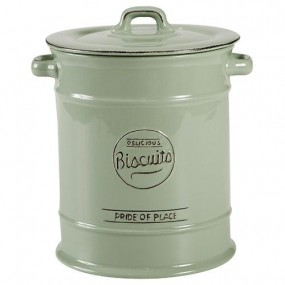 T&G Pride of Place Large Biscuit Jar - Old Green Kitchen Accessories