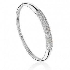 TIPPERARY CRYSTAL PAVE BANGLE SILVER