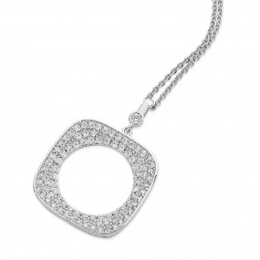 Square Pave Moon Pendant Giftware