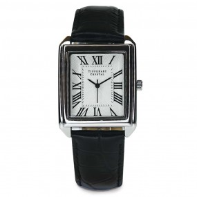 Tipperary Crystal Classic Timepiece Rectangular Face Watch