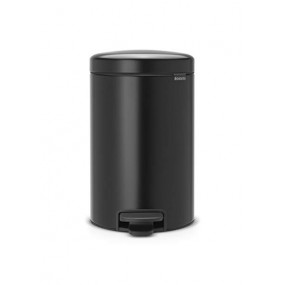 Brabantia Pedal Bin, 12L, Matt Black Kitchen Accessories