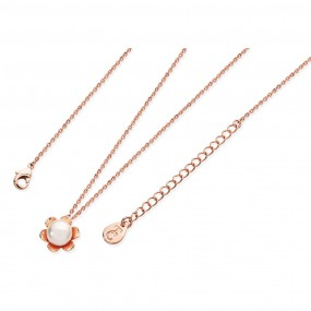 Tipperary Crystal Rose Gold Flower Pearl Pendant Jewellery / Watches