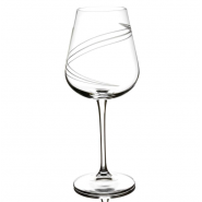 Tipperary Crystal Set of 6 Spiral Cut Wine Glasses 450ml