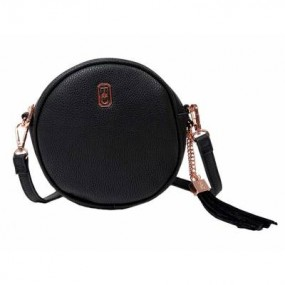 Tipperary Crystal, The Harper Round Cross Body Bag - Black Bags / Purses