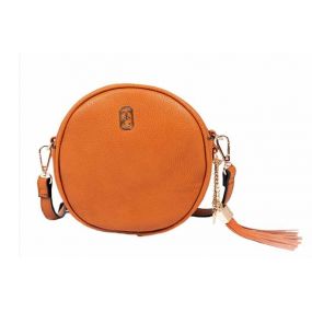 Tipperary Crystal, The Harper Round Cross Body Bag - Tan Bags / Purses