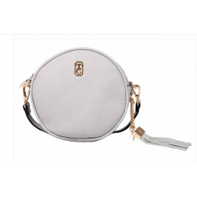Tipperary Crystal, The Harper Round Cross Body Bag - Grey Bags / Purses