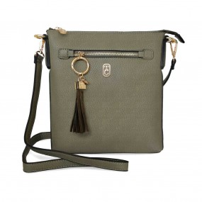 Tipperary Crystal, The Chelsea Cross Body Pouch Olive