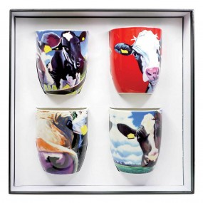 Tipperary Crystal Eoin O'Connor Cows - Set of 4 Mugs