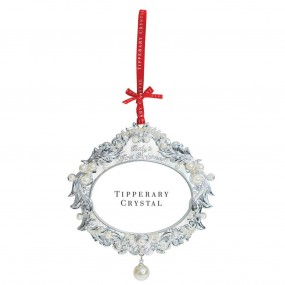 Tipperary Crystal Pearl 1st Christmas Frame Decoration