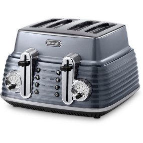 Delonghi Scultura 4 Slice Toaster - Gun Metal Grey Toasters