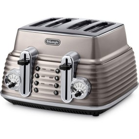 Delonghi Scultura 4 Slice Toaster - Champagne Toasters