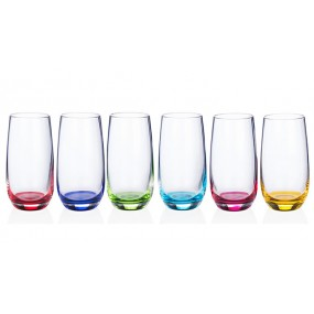Newgrange Living Rainbow Party Hi-ball Glasses (Set of 6) 510cc