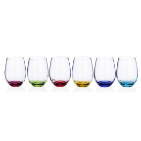 Newgrange Living Rainbow Party Stemless Wine Glasses (Set of 6)