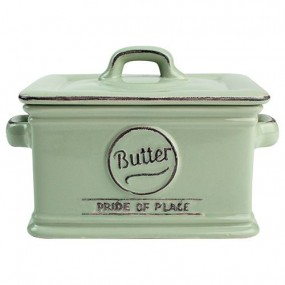 T&G Pride of Place Butter Dish - Old Green Cutlery