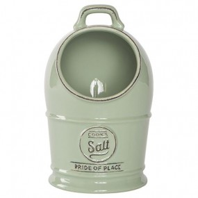 T&G Pride of Place Salt Jar - Old Green Kitchen Accessories