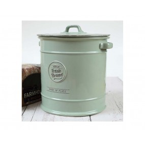 T&G Pride of Place Bread Crock Old Green Kitchen Storage