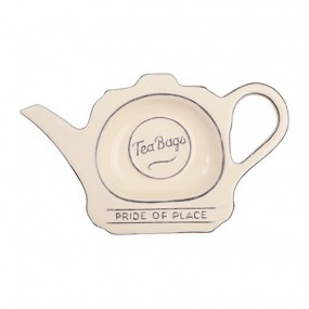 T&G Pride of Place Tea Bag Tidy Cream Kitchen Accessories