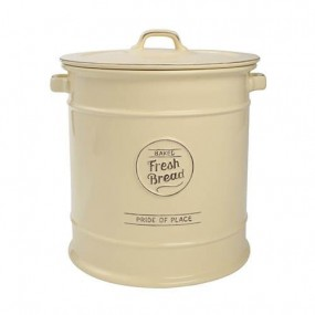T&G Pride of Place Bread Crock Cream Kitchen Accessories