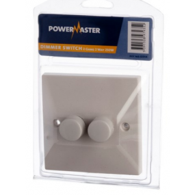 Powermaster 2 Gang 2 Way Dimmer Electrical Accessories