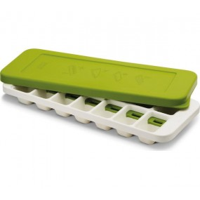 Joseph Joseph Quicksnap Plus Ice Cube Tray - White & Green Utensils