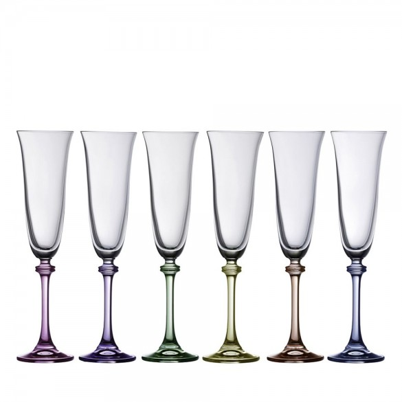 Galway Crystal Liberty Party Pack Flute (Set of 6) Giftware