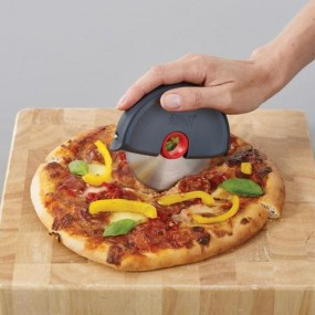 Joseph Joseph Disc Easy Clean Pizza Wheel Cutter - Grey/Red Kitchen Accessories