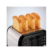 Accents 4 Slice Toaster Black Electrical