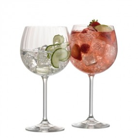 Belleek, Galway Crystal Erne Gin & Tonic Pair Glassware