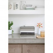 Brabantia Roll Top Bread Bin, Matt Steel Bread Bin