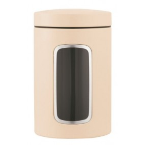 Brabantia Window Canister, 1.4L, Almond Kitchen Accessories