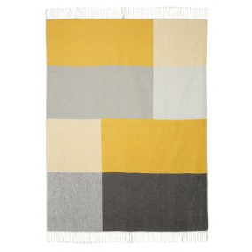 Scatter Box Riley Throw 127 x 178cm, Ochre