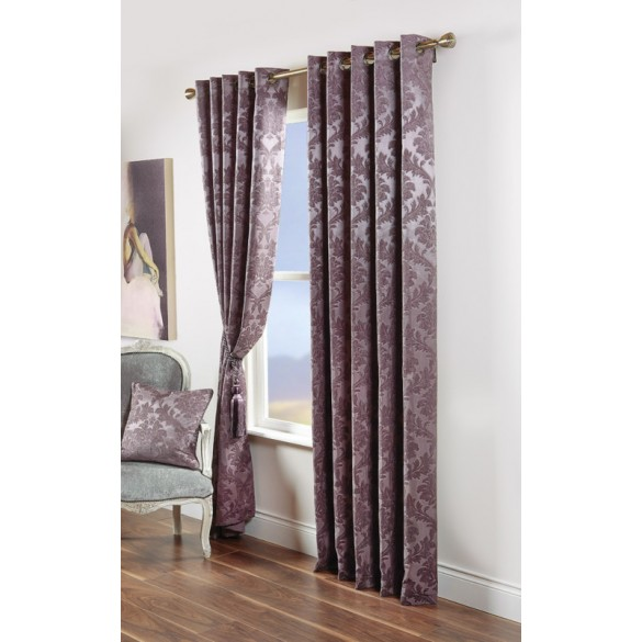 Scatter Box Darwin Eyelet Lined Curtains, Heather (90x90 Inch)