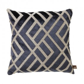 Scatter Box Senna Geometric Cushion, Navy, 43 x 43cm