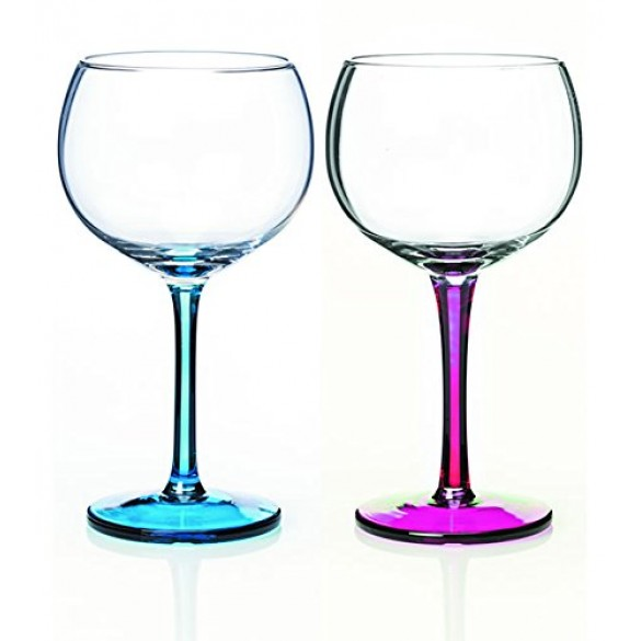 Newgrange Living Party Gin Glass Set of 2 (Pink & Aqua)