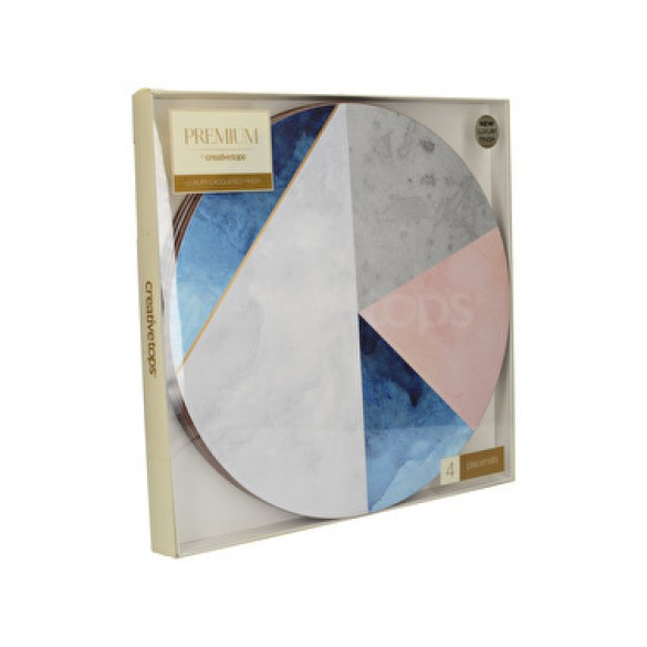 Creative Tops Geometric Palette Pack of 4 Round Placemats