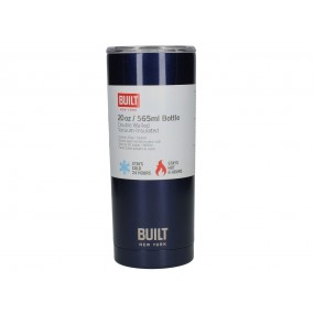 BUILT 20oz Double Walled Stainless Steel Bottle - Midnight Blue