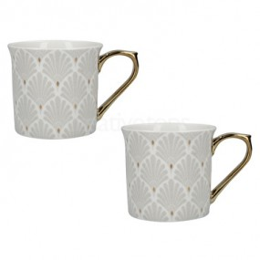 Creative Tops Scallop Shells Set of 2 Palace Mugs White