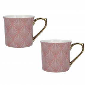 Creative Tops VA Scallop Shells Set of 2 Palace Mugs Pink