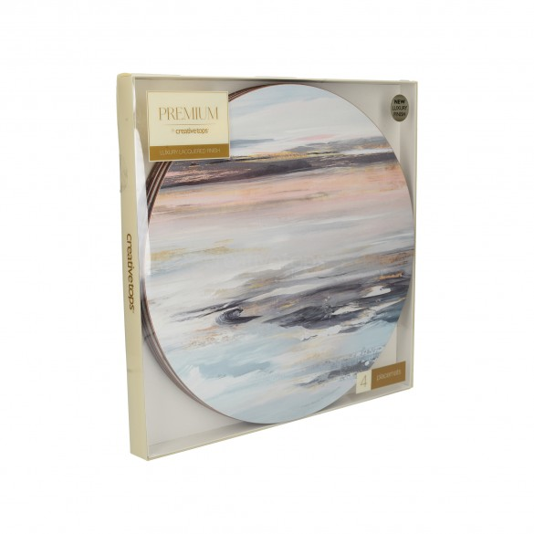 Creative Tops Tranquillity Circle Set of 4 Placemats & Coasters