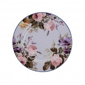 Katie Alice Wild Apricity Grey Floral Side Plate Dinnerware
