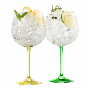 Belleek, Gawlay Living Gin and Tonic Lemon & Lime Set Crystalware