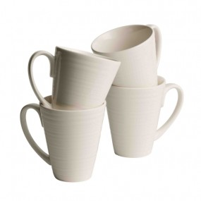 Belleek Ripple 4 Piece Mug Set Mugs & Cups