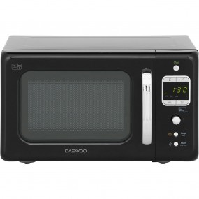 Daewoo Retro Black Microwave