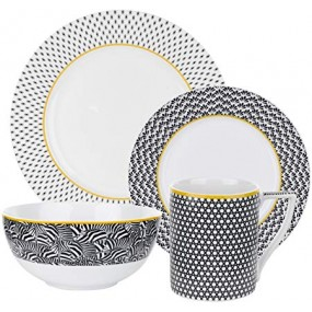 Ted Baker 4 Piece Set Langdon Black Kitchenware