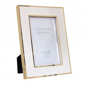 "White Frame W/gold Edging 4"" X 6"" Giftware"