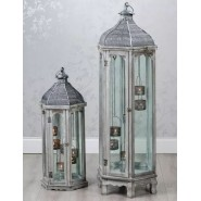 Agadir Hex Lantern Grey Large 118cm