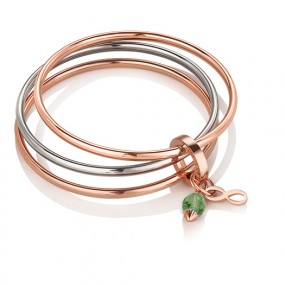 Triple Bangle Birthstone August Giftware