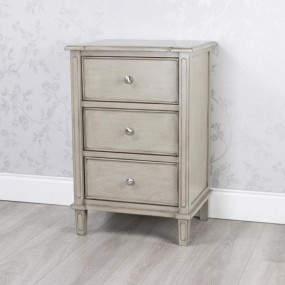 Oyster Grey 3 Drawer Locker, Chrome Handles