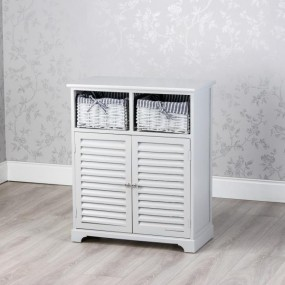 Selby 2 Door 2 Basket Storage - Cab Grey